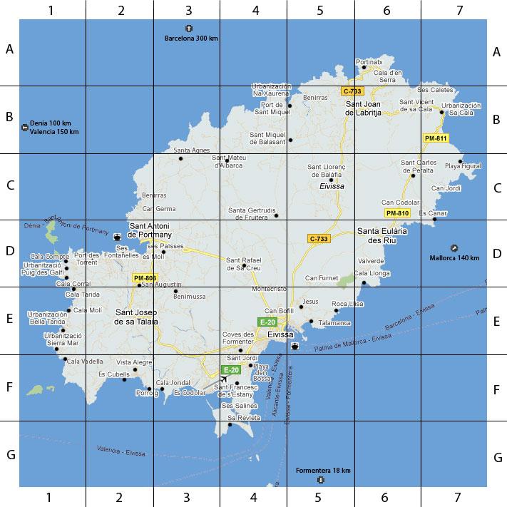Ibiza Island Map by Ibiza Haus