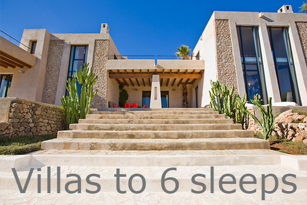 Ibiza Villas Fincas Houses Apartments up to 6 Persons / Sleeps